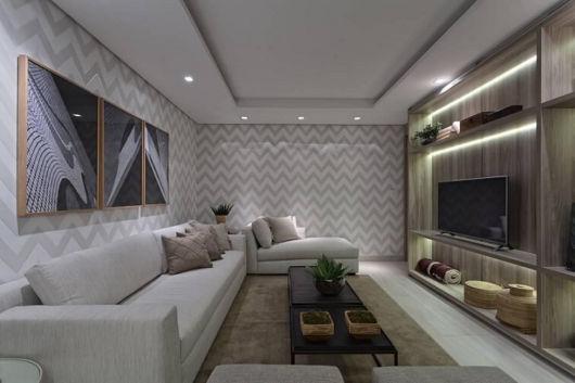 papel de parede sala de TV