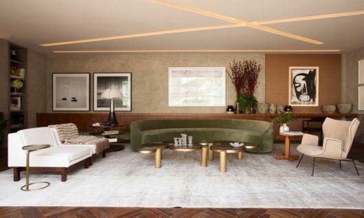 sofá verde na decoração