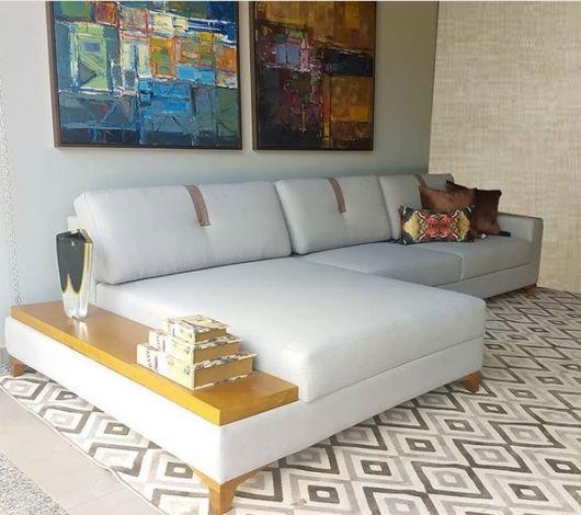 sofá moderno com chaise