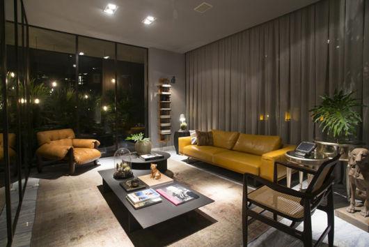 sofá amarelo na decoração