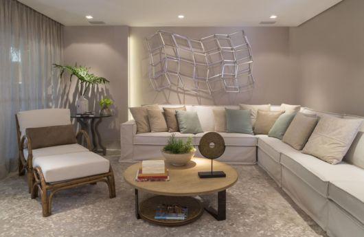 sofá de canto branco
