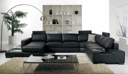 decoração com sofá de 8 lugares