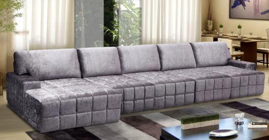 Sofá com chaise grande