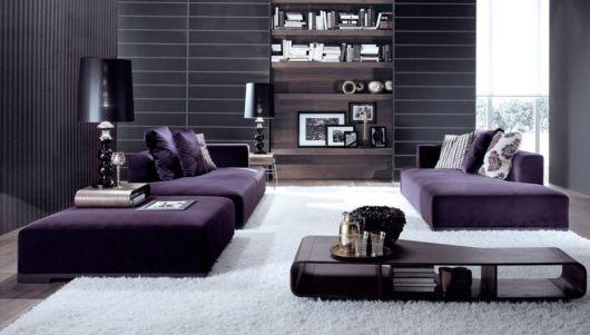 sofá roxo tipo cama