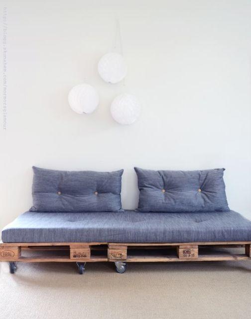 Sofá de pallet simples