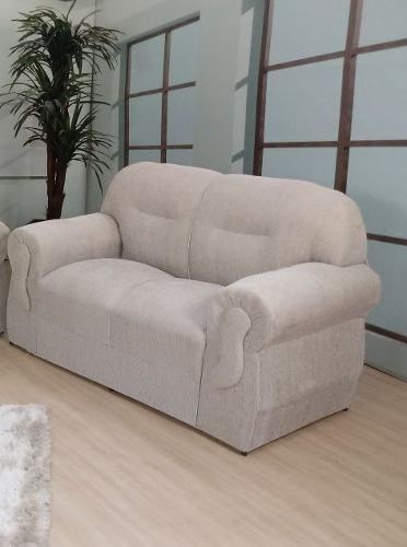Sofá simples de 2 lugares