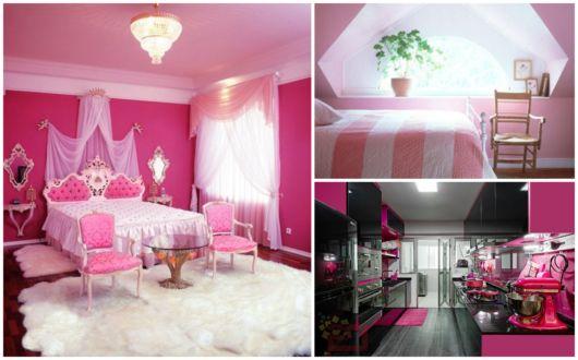 Decoração com tons de rosa