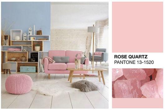 Decoração rosa quartzo
