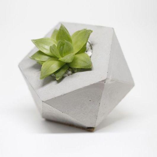 vaso geométrico pequeno