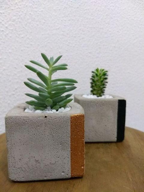 vaso quadrado moderno