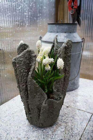 vaso de toalha com flor