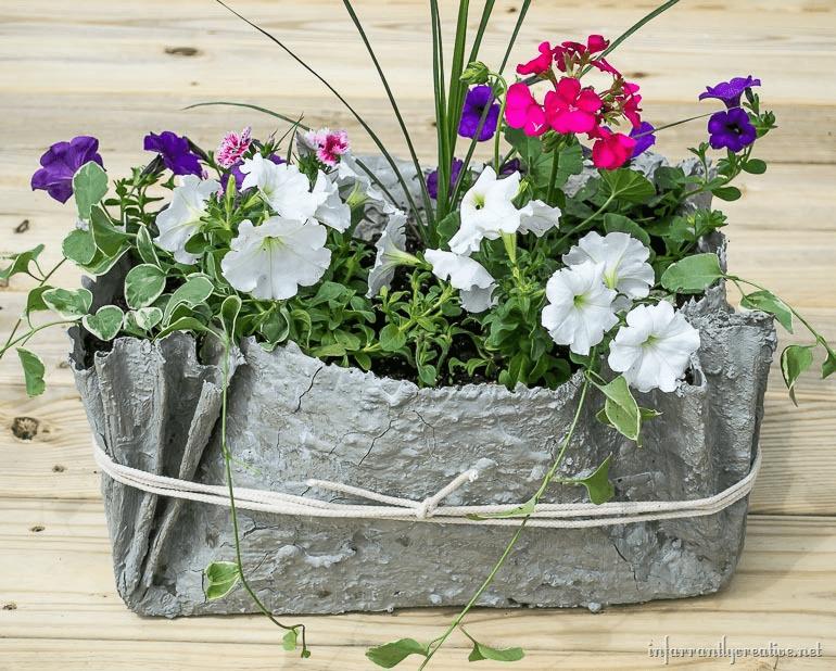 jardineira de cimento