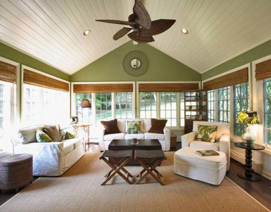 ventilador de teto moderno de bambu