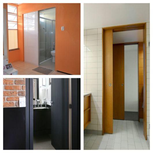 Porta para banheiro – Qual escolher? + 60 modelos ideais para o lar!