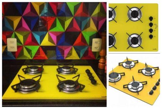 Cooktops amarelos.