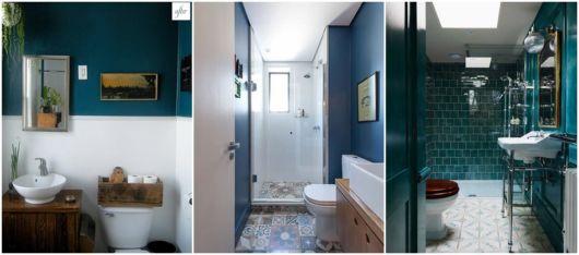 ideias para banheiro azul
