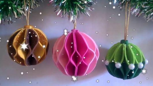 bolas de natal de EVA