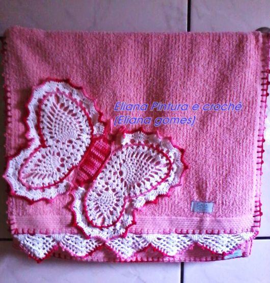 toalha de rosto decorada