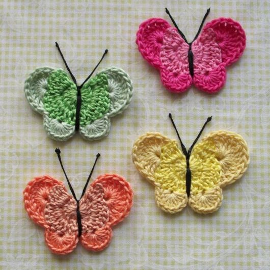 borboleta simples para aplique