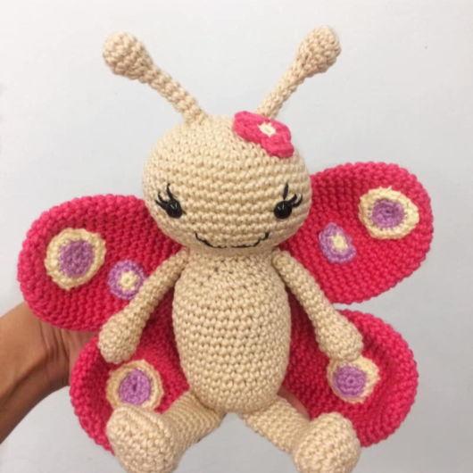 borboleta amigurumi