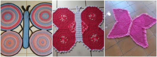 modelos de tapetes de borboleta