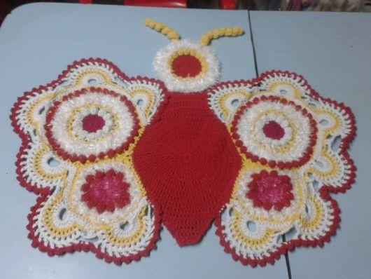borboleta grande tapete