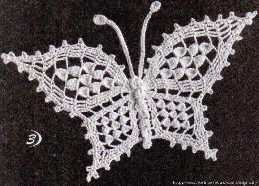 borboleta de barbante