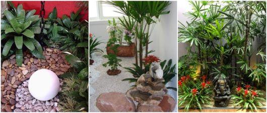 jardim interno decorado