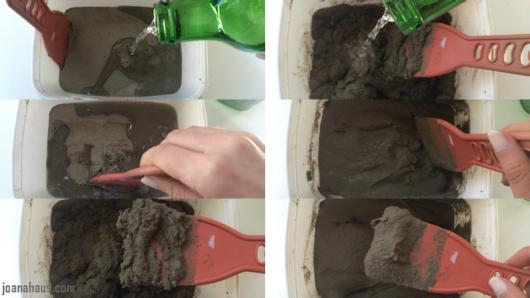 como fazer cabideiro de concreto