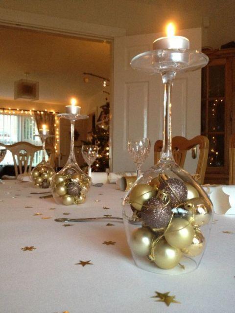 decoração simples com bolas de natal