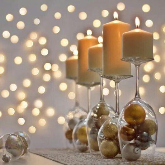 decoração fácil com bolas de natal