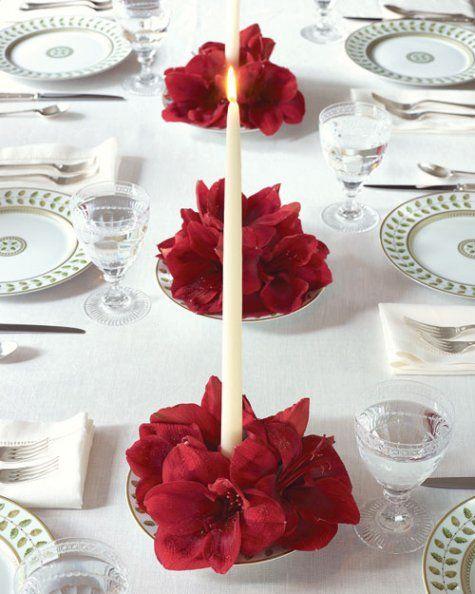 decoração simples com velas