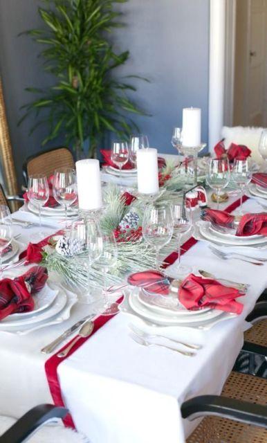 decoração simples mesa