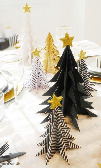 decoração de natal em papel