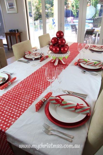 decoração mesa de jantar simples