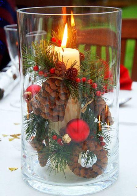 decoração simples com vela