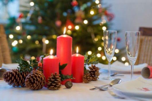 velas vermelhas decoração