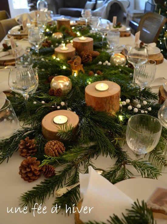 decoração rústica com velas