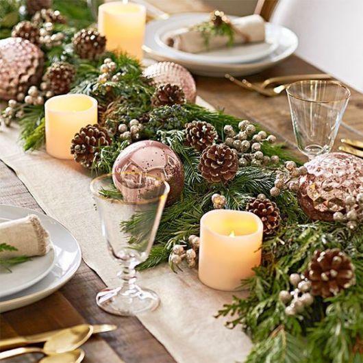 mesa decorada com estilo rústico