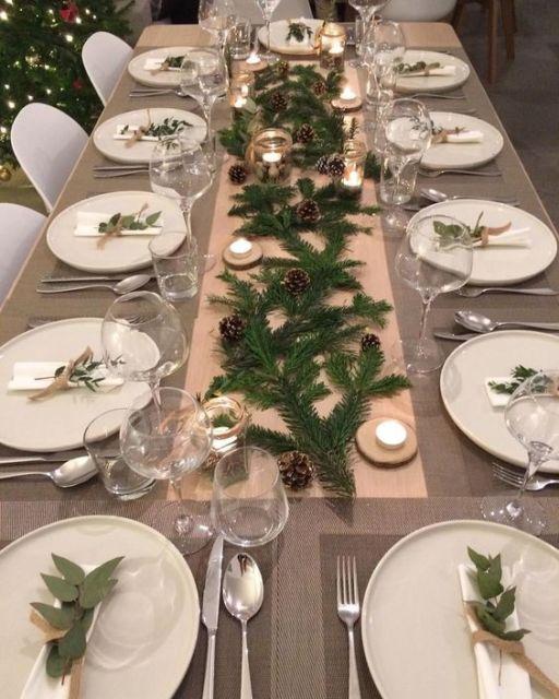 mesa decorada jantar