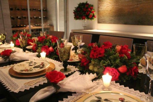 decoração jantar natal