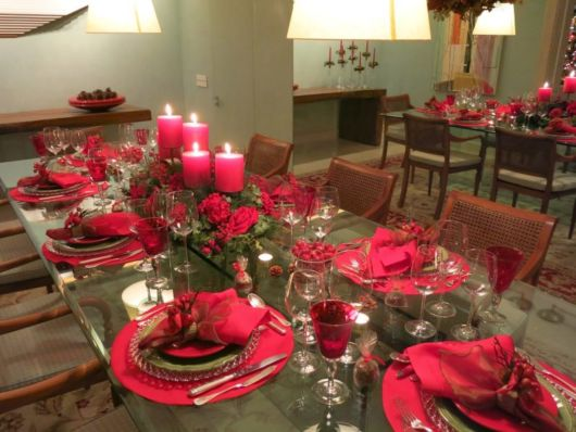 decoração vermelha luxo