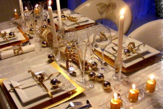 decoração sofisticada com velas