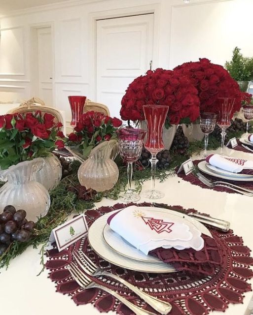 arranjos de rosas centro mesa