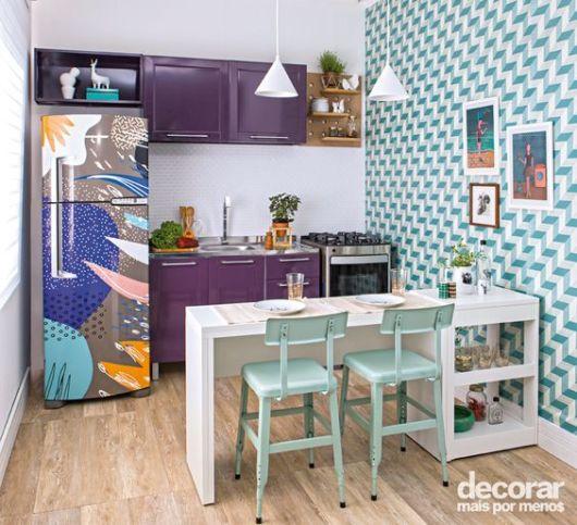 cozinha colorida barata