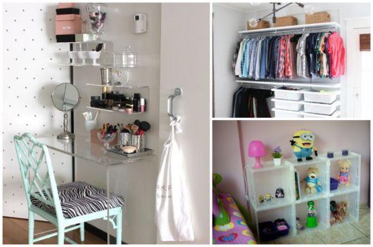 como organizar quarto pequeno