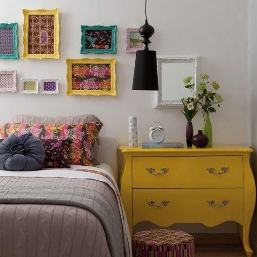 cômoda amarela decoração