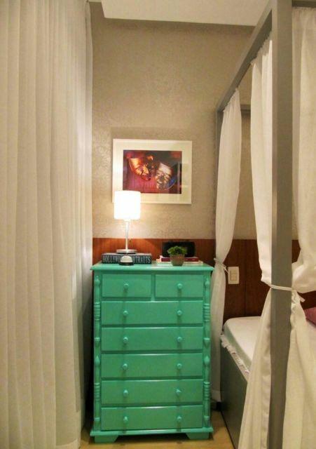 cômoda verde decoração