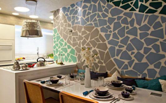Cozinha com cores frias