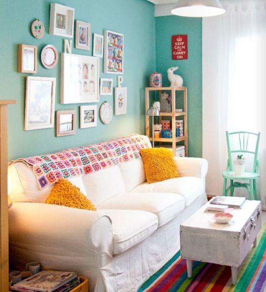 Sala com cores frias
